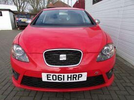 SEAT LEON 2.0 CR TDI FR PLUS 5d AUTO 168 BHP (red) 2011