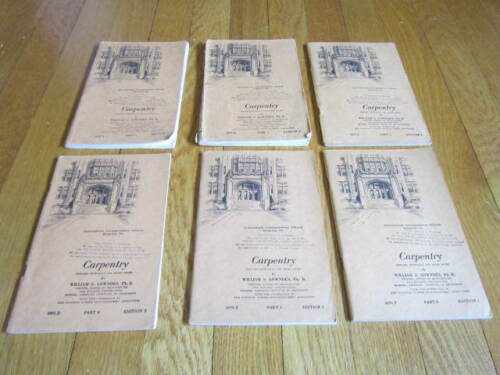 Vintage Carpentry Home Study Education Books LOT of 6 1940s US Armed Forces