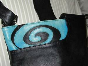 RED MULGA soft genuine leather blue /black Shoulder bag Bald Hills Brisbane North East Preview