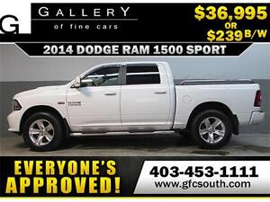 2014 DODGE RAM SPORT CREW *EVERYONE APPROVED* $0 DOWN $239/BW