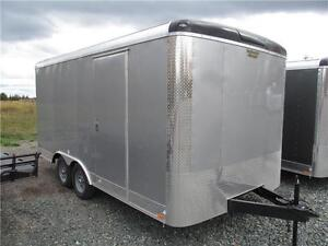 16' CARGO TRAILER WITH LIFT & EXTRA HEIGHT