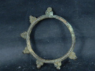 Ancient Bronze earing Islamic 1300 AD NO RESERVE    #BR1427