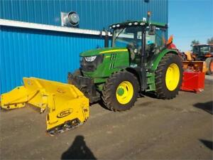 "JOHN DEERE 6125R WITH 8-13 PLOW BLADE/PUSHER AND 92"" SNOW BLOWER"