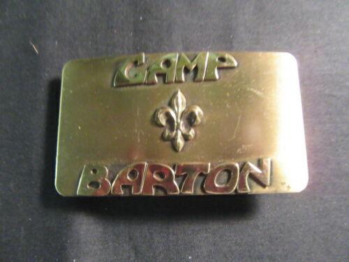 Camp Barton Metal Belt Buckle      c91