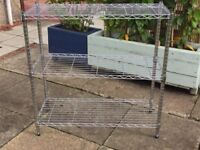Metal Chrome Wire Shelving/Racking Unit 3 Tier