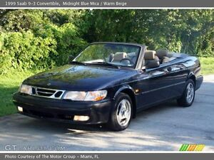 1999 Saab 9-3 leather Convertible (2 door)