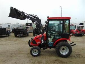 New TYM 234 Hydrostatic Tractor w. DeLuxe Cab and Front Loader