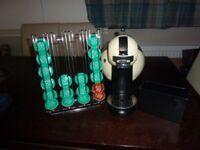 Krups Nescafe Dolce Gusto Espresso Machine Cream +Pod Holders + Tea Coffee Pods