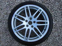 "GENUINE AUDI 18"" RS4 7 DOUBLE SPOKE ALLOYS & TYRES. IMMACULATE."