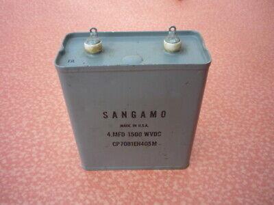 Sangamo Nos Paper In Oil Capacitor 4uf 1500v Dc Oil Sealed Cap