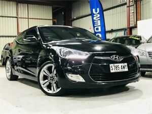 2013 Hyundai Veloster FS2 Coupe Black 6 Speed Manual Hatchback Mawson Lakes Salisbury Area Preview