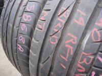 245/40/19 Bridgestone Turanza ER300, BMW, Runflat x2 A Pair, 6.3mm (168 High Road, Romford, RM6 6LU)