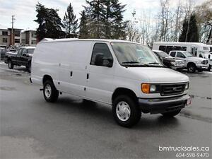 2007 FORD E-250 XL EXTENDED CARGO VAN ONLY 92000KM