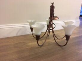 Elstead chandelier - bronze.