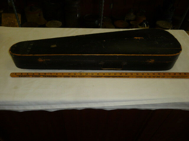 ANTIQUE WOODEN COFFIN BOX CASE FOR A VIOLIN/FIDDLE