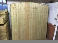 🌟 Excellent Quality Heavy Duty Bow Top Timber Fence Panels