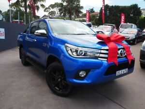 2017 Toyota Hilux GUN126R SR5 Double Cab Blue 6 Speed Sports Automatic Utility Brookvale Manly Area Preview