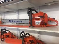 Range of Husqvarna chainsaws,consaws,hedge trimmers,leaf blowers etc