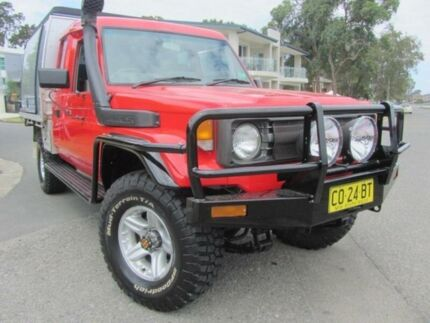 1998 Toyota Landcruiser HZJ75RV RV LWB (4x4) Red 5 Speed Manual Hardtop