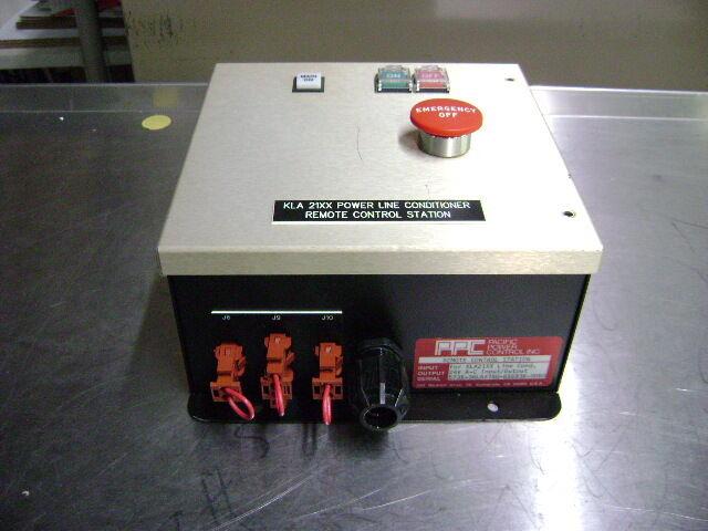 2025  PPC Remote Control Station.  For KLA21XX Line Conditioner