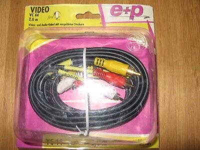 Video- und Audio- Kabel mit vergoldeten Steckern 3+3 Cinch 2 x Video, 4 x Audio - 3 Video Und 2 Audio