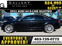 2011 Audi A4 2.0T QUATTRO $229 bi-weekly APPLY NOW DRIVE NOW