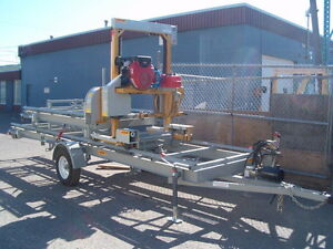 HAWKMILL BANDSAWMILL , TRAILER MODEL/ HYDRAULIC PACKAGE/24 HP Prince George British Columbia image 2