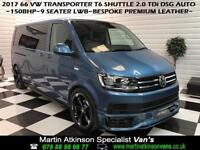 2017 VW Volkswagen Transporter T6 Shuttle DSG LWB SE R Edition 150BHP 9 Seat