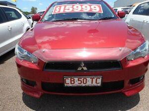 2010 Mitsubishi Lancer CJ MY10 VR-X Sportback Red 5 Speed Manual Hatchback Winnellie Darwin City Preview