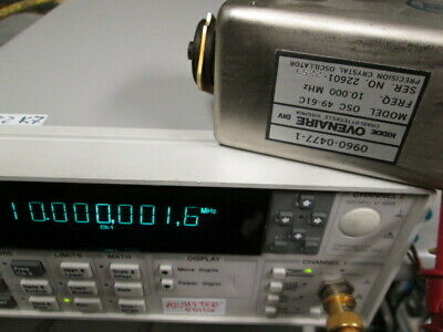 Hp 0960-0477 Frequency Reference Tested Ovenaire Osc 49-61c Crystal Oscillator