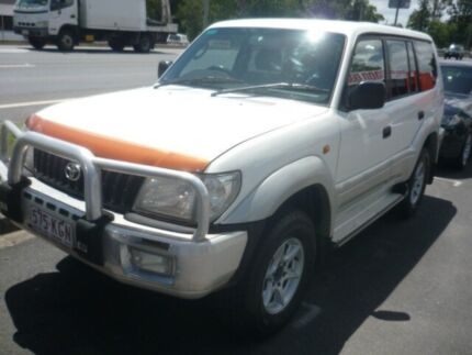 2001 Toyota Landcruiser Prado White 4 Speed Automatic Wagon Caboolture Caboolture Area Preview