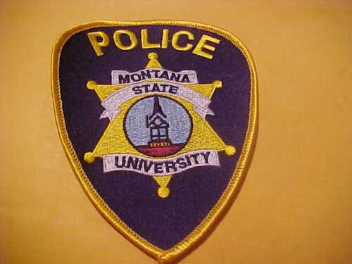 MONTANA STATE UNIVERSITY POLICE PATCH SHOULDER SIZE UNUSED