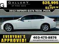 2012 Infiniti G37x AWD TECH PACK $179 BI-WEEKLY APPLY NOW
