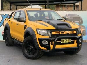 2012 Ford Ranger PX XL Hi-Rider Yellow Sports Automatic Utility Campbelltown Campbelltown Area Preview