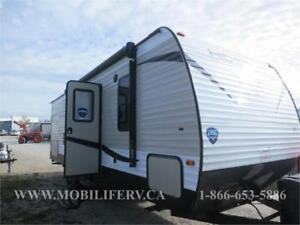 2018 KEYSTONE HIDEOUT 242LHS TRAILER FOR SALE*EXT. KITCH.&BUNKS