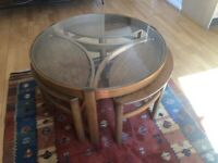 Round Portable Coffee Table.