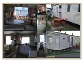 Two bedrooms caravan to let for a holiday.