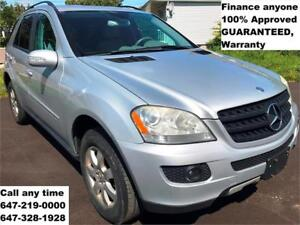 2006 Mercedes-Benz M-Class 4MATIC FINANCE 100% APPROVED WARRANTY