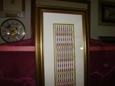 YAACOV AGAM VERTICAL ORCHESTRATION GREEN RARE COLLECTIBLE, used for sale  Apollo Beach