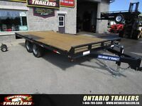 """2016 Sure-Trac 102"""" x 16 ft Deckover Flatbed (9990 lb gvwr)"""