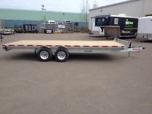 "NEW 2018 K-TRAIL 102"" x 18' GALVANIZED DECK-OVER TRAILER"