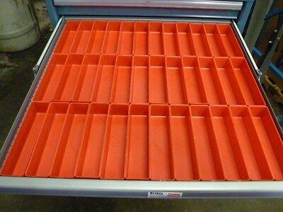 "36  2"" x 8"" x 2""  Plastic Boxes fit Lista Vidmar Toolbox Organizers Dividers"
