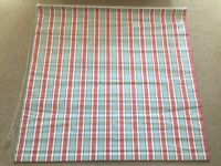 Roman Blind - Red White and Blue Stripe - Blackout lining - Width 115 cm Drop 111cm