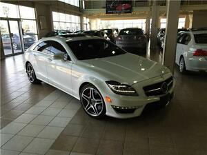 2013 MERCEDES BENZ CLS63 AMG*RED LEATHER*PEARL WHT*NO ACCIDENT