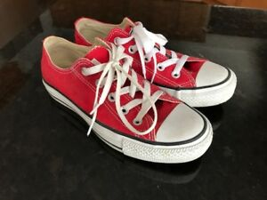 Boys Converse All Star Red Size 4 Yotuh/Mens