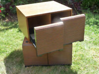 2 x Retro CD STORAGE BOXES / Racks
