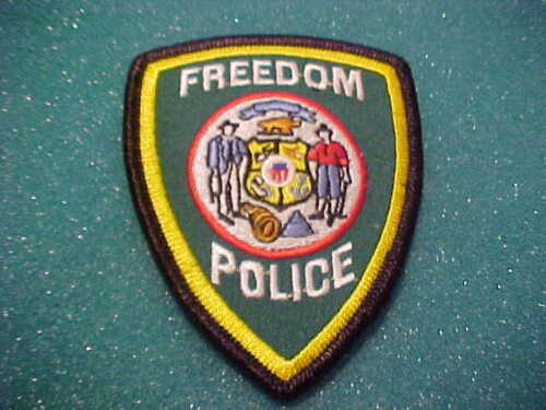 FREEDOM WISCONSIN POLICE PATCH UNUSED 3 1/2 X 3