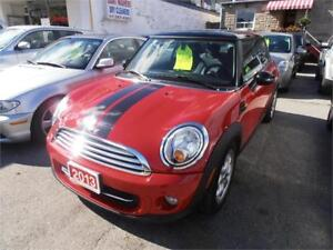 2013 Mini Cooper Leather Sunroof Red Only 33,000km