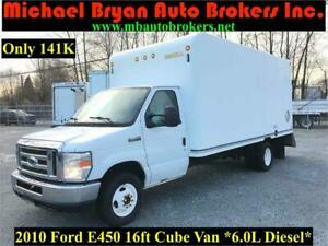 2010 FORD E450 16FT BOX TRUCK / CUBE VAN W/SHELVING *DIESEL*