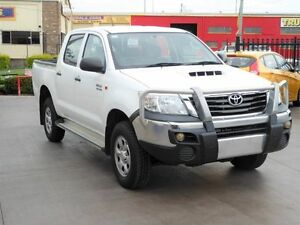 2012 Toyota Hilux KUN26R MY12 SR (4x4) White 4 Speed Automatic Dual Cab Pick-up Strathpine Pine Rivers Area Preview